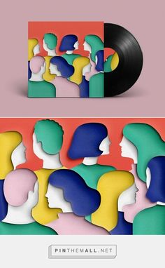 """Wear Any Clothes Just As Long As They're Bright 7"""" vinyl design by Eve Warren (UK)"""
