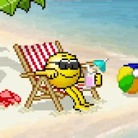 Beach Drink Drink Water Ocean Lake Sand Smiley Smilie Smileys Smilies Emoticon Emoticons Animated Animation Animations Gif photo drink.gif