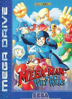 Mega Man: The Wily Wars - Sega Genesis and Mega Drive Mega Drive Games, Sega Mega Drive, Mega Man, Play Online, Online Games, Sega Genesis Games, Box Art, Game Art, Smurfs