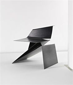 PHILIP MICHAEL WOLFSON Prototype 'Origami' chair, designed 1991, executed 2007  Folded and welded sheet steel.