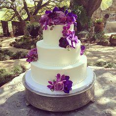 Three tier buttercream wedding cake #polkadotscupcakefactory #bzevents