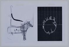 """Erika Vogt & Shannon Ebner  Untitled (for Stuart Comer)  2009  mixed media  14"""" x 20"""""""