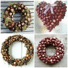 """Image conversion to """"Herbst Dekorortür"""" Diy Fall Wreath, Autumn Wreaths, Fall Diy, Fall Crafts, Home Crafts, Crafts For Kids, Christmas Tree Ornaments, Christmas Wreaths, Christmas Crafts"""