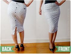 WOW great DIY button down refashion anienessence: DIY: Easy Peasy Pencil Skirt from Men Shirt