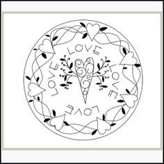 Download Circle of Love - Embroidery Sewing Pattern | Stitchery | YouCanMakeThis.com