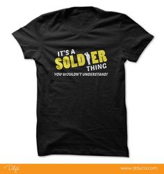 Its a soldier thing. You wouldnt understand!