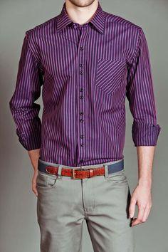 UG Purple Rogers Button Up Shirt