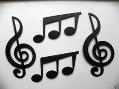 Amazon.com: Treble Clef and Triplet Music Notes Set of 4 Metal Wall Art Home Decor: Home & Kitchen