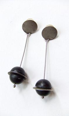 Vintage 1980s MARTHA STURDY modernist earrings by storyofthings