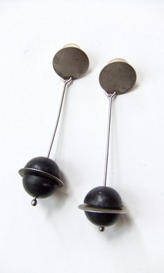 Vintage 1980s MARTHA STURDY modernist earrings by storyofthings, $69.00