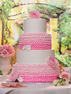 Ruffles And Blooms Publix Wedding Cake Cakes Baby Girl