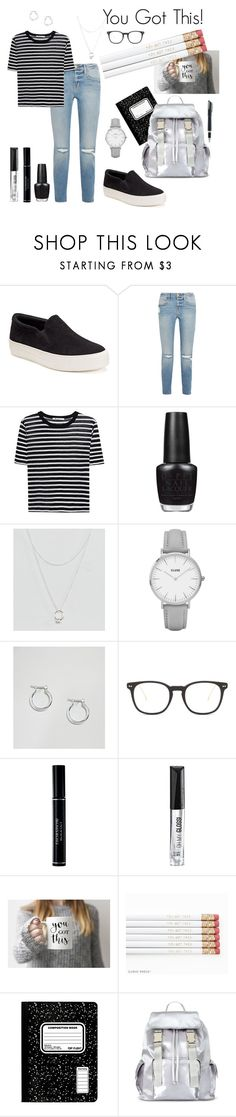 """""""You Got This: OOTD School Edition"""" by bbluna ❤ liked on Polyvore featuring Candie's, Frame, T By Alexander Wang, OPI, ASOS, CLUSE, Illesteva, Christian Dior, Rimmel and Miss Selfridge"""