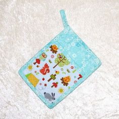Potholder With Pocket • Hot Pad • Camping Pot Holder • Turquoise Oven Mitt • Turquoise Kitchen Decor • Glamping • Camping Decor • RV Trailer