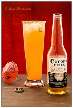 recipes; receta; Michelada; Corona Beer; Corona Cerveza; Mexican; drink; Mexican bloody mary; Mexican Michelada; spicy; beer; chile sauce; Tabasco; ice cubes; recipe; easy; basic; Spicie Foodie; food blog