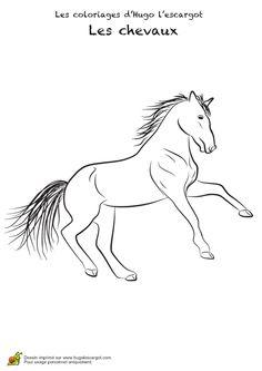 Dessin de cheval à colorier pour amuser les enfants