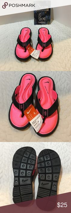 Nike Flip Flops Never worn. Comfort footbed. They are similar to memory foam shoes. Nike Shoes Sandals