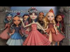 ▶ Ever After and Monster High Starter Tutorial for Printable Doll Clothes - YouTube