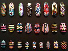 Interviewing: The Illustrated Nail - Nail Art Design 3d Nail Art, Nail Art Dessin, 3d Art, Acrylic Nail Art, Cool Nail Art, Tribal Nail Designs, Colorful Nail Designs, Art Designs, Nail Patterns