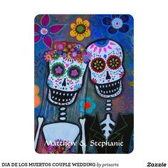 DIA DE LOS MUERTOS COUPLE WEDDING CARD