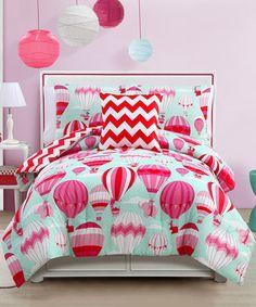 Love this Blue & Pink Away We Go Comforter Set on #zulily! #zulilyfinds