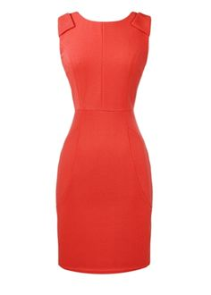 Coral Pencil Dress