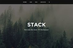 Stack - Responsive Tumblr Theme by RoarTheme on Creative Market