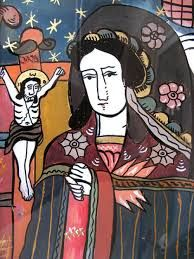 Items similar to Religious Icon Virgin Mary on Etsy Spiritual But Not Religious, Religious Icons, Religious Art, Christian Paintings, Art Icon, Sacred Heart, History Facts, Virgin Mary, Fiber Art