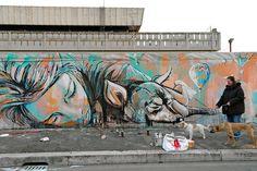 amazing graffiti by Alice Pasquini - Roma (IT) #artist #writer