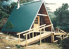 I love A frame cabins. They are my favorite kind!