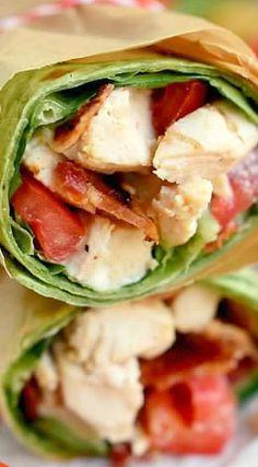 blt chicken caesar salad wrap this blt chicken caesar salad wrap has ...