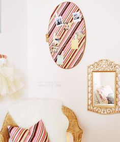 Come see how easy it is to create your very own embroidery hoop bulletin board!