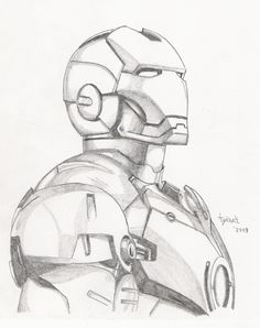 Iron Man sketch by TyndallsQuest. on - Iron Man sketch by TyndallsQuest. Pencil Art Drawings, Art Drawings Sketches, Cartoon Drawings, Cool Drawings, Cartoon Faces, Cartoon Characters, Iron Man Drawing, Avengers Drawings, Spiderman Sketches