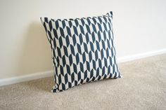 Welcome to SimplySkandi :)  Pattern: Geometric design in Black  Item: Decorative Cushion Cover (insert not included) Product Dimensions: 18 x 18
