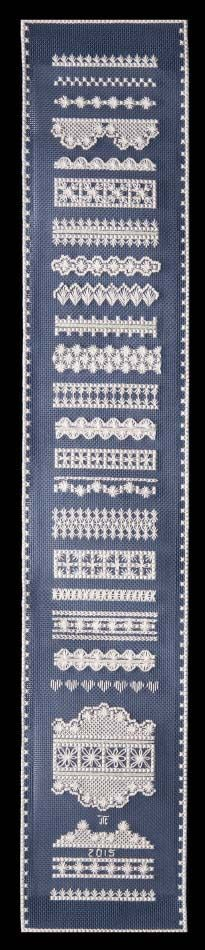 Hapsburg Lace Embroidery Sampler Kit - a Hand Embroidery Design as an Alternative to Cross-stitch.