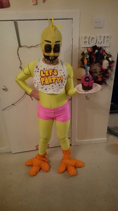 Five Nights At Freddy S Face Paint Chica Costume Cosplay