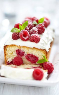 Raspberry Cake..this recipe would be awesome with any fruit berry own hand..or a combination..very similar to cakes sold at Fresh Market.