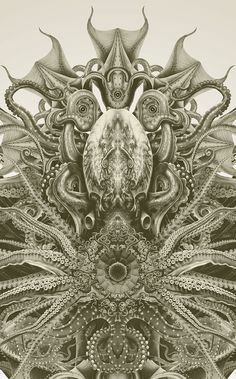 Cthulu Detail by John Coulthart
