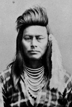 """Ollokot (aka Little Frog) the younger brother of Chief Joseph - Nez Perce – 1877. When Joseph mentioned in his surrender to Col. Nelson A. Miles that """"he who led the young men is dead,"""" he referred to Ollokot."""