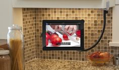 Clever! iPαd & stαnd for cooking in the kitchen