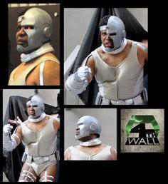 Cyborg - Teen Titans - mask by 4thWall, Costume by Brian Parsley costumer - Thomas Parham.
