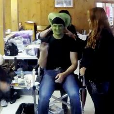 So this is how we created #GreenSoren. #makeup #timelapse #gopro #StarWars