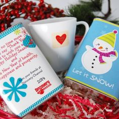Personalized Holiday Hot Chocolate Mix in Gift Tins