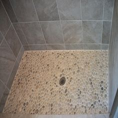 Bathrooms & Showers - Pebble Tile Shop Bathroom Renos, Master Bathroom, Bathrooms, Stone Mosaic, Stone Tiles, Pebble Shower Floor, Shower Pics, Brown Shades, Tile Flooring