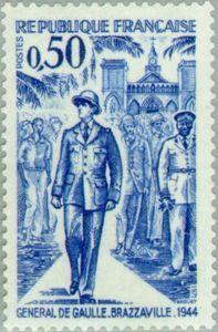 General de Gaulle in Brazzaville in 1944