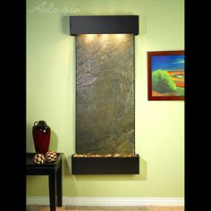 This wall fountain is perfect indoors.  Please visit us at http:///www.waterfeaturesupply.com/waterwalls/indoor-wall-water-fountains.html to get even more information regarding this wall fountain.