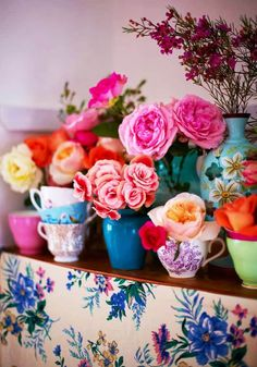 Ideas flowers bouquet birthday ana rosa for 2019 Flower Power, My Flower, Flower Colors, Deco Floral, Floral Style, Floral Design, Fresh Flowers, Beautiful Flowers, Bright Flowers