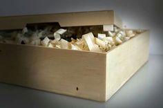 Plywood gift box