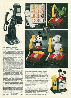 Since my teen years in the 1980s, phones have really changed.  Check out these totally awesome novelty phones from the 80s. http://www.liketotally80s.com/2015/02/80s-phones/