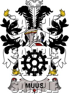Muus Family Crest apparel, Muus Coat of Arms gifts