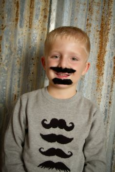 """""""Mustache Man"""" by Portrait Creations photography studio located in Charlotte, NC."""